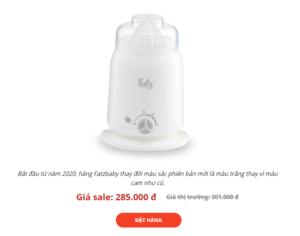 máy hâm sữa Fatzbaby 3 chức năng FB3003SL